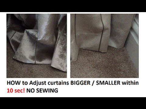 How to adjust Curtains smaller / bigger by 5cm within 10 Sec! No SEWING! QUICK 1 MIN REVIEW!
