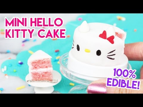 How to Make a Mini Hello Kitty Cake in an Easy Bake Oven!