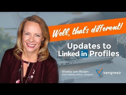 LinkedIn Gets a New Profile Look for 2018 | Viveka von Rosen, Vengreso CVO