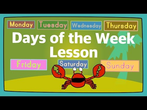 Days of the Week Lesson for Kids | The Singing Walrus