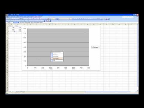 X-Y scatter plot in Excel 2003