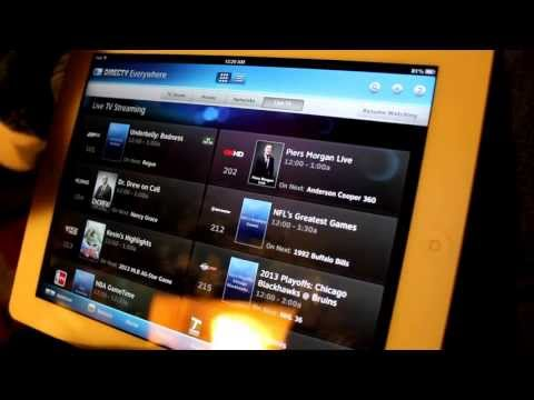DirecTV iPad App Demo