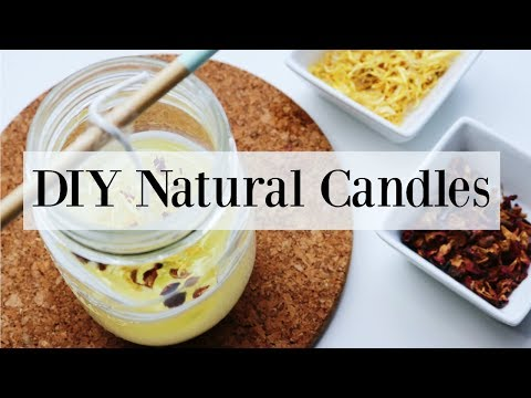 How to Make Candles with Essential Oils - Homemade Summer DIY♡ NaturallyThriftyMom