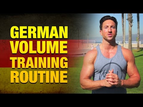 Weight Lifting Routines To Get Huge Fast (German Volume Training Routine)