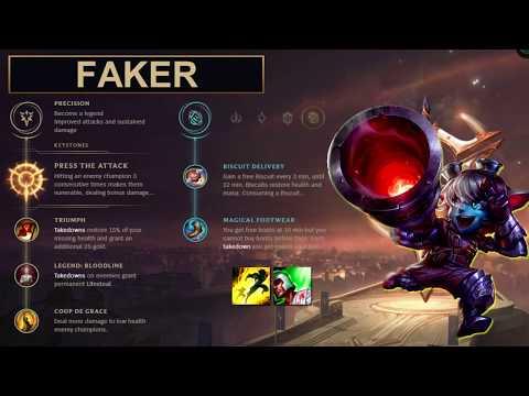 SKT Faker Build Tristana - New Runes Season 8 (League of Legends Guide)