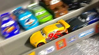 Disney Cars 3 Trailer Cruz Ramirez Flips over Jackson Storm in Cars 3 Movie Scene Toy Story Playtime