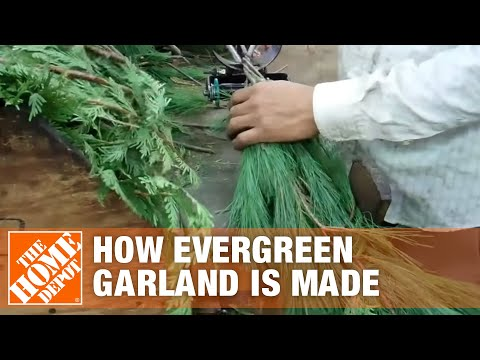 How Evergreen Garland is Made - The Home Depot