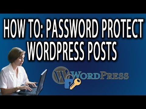 How to Password Protect Wordpress Posts