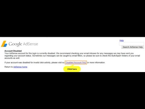 AdSense account disabled for invalid activity - AdSense Help