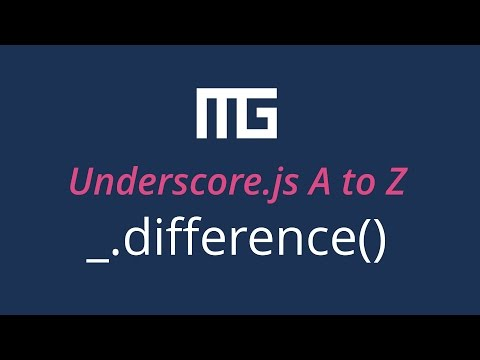 Underscore. js difference function // _.difference()