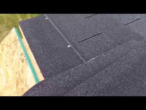 How to build a shed chapter 4: How to put on shingles.