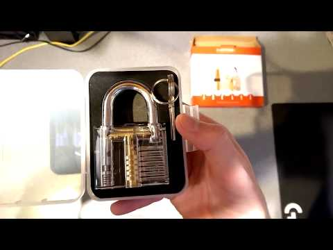 Eventronic Lock Picking Set & Clear Practice Locks