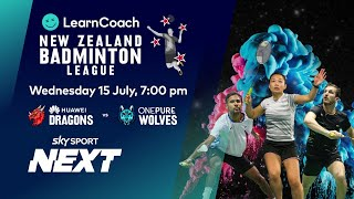 NZ Badminton League | Huawei Dragons v OnePure Wolves | Sky Sport Next