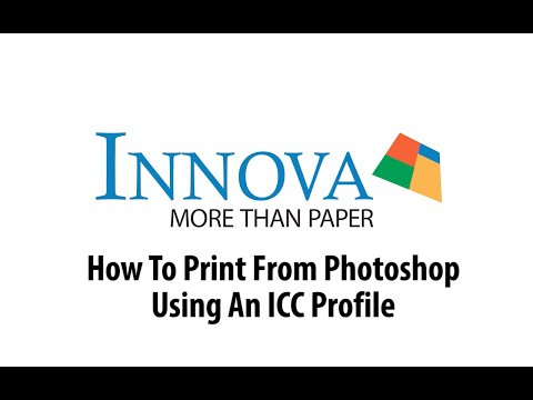 How To Print From Adobe Photoshop Using An ICC Profile