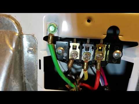 How to install a Electric Dryer Cord, 3 or 4 prong. Ground Wire explained