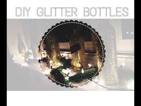 DIY Glitter Tutorial | Champagne | Wine | Bottles |