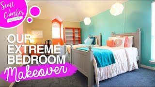 Extreme Full Bedroom Makeover  Amazing Transformation Before And After  Scott And Camber