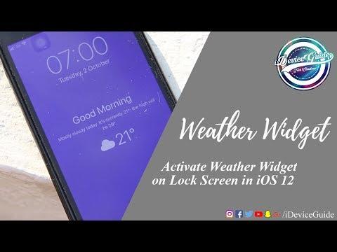 How to Unlock the Hidden Lock Screen Weather Widget on iOS 12