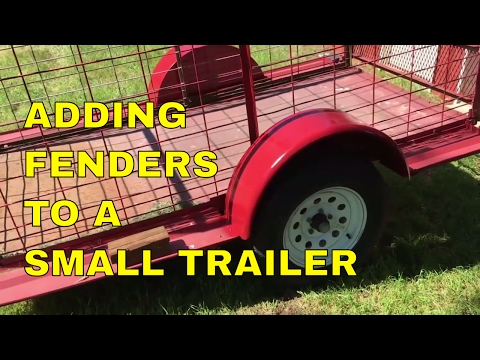 Adding Fenders To A Small Trailer