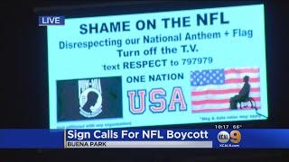 OC Billboard Calls For NFL Boycott Over Anthem Protests
