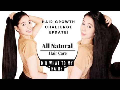 Hair Growth Challenge Update- Using My All Natural Hair Care Line- WHAT DID IT DO TO MY HAIR ?