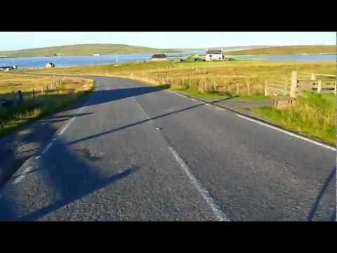 Cycling in Yell, Shetland, August 2011