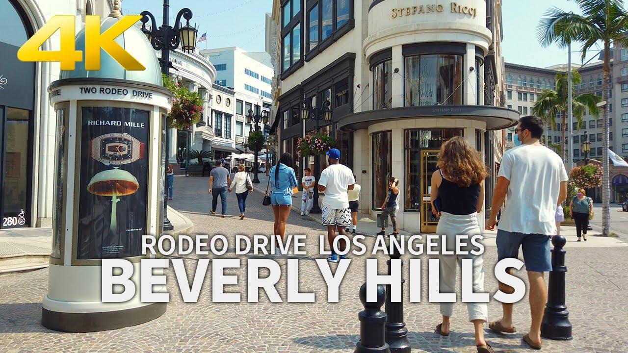 Walking Beverly Hills, Rodeo Drive, Luxury Shopping Street, Los Angeles, California, USA, Travel, 4K