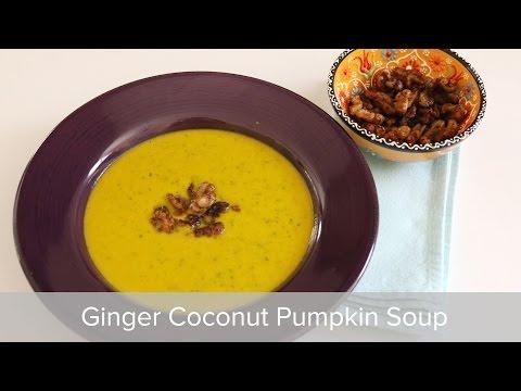 Vegan Ginger Coconut Pumpkin Soup