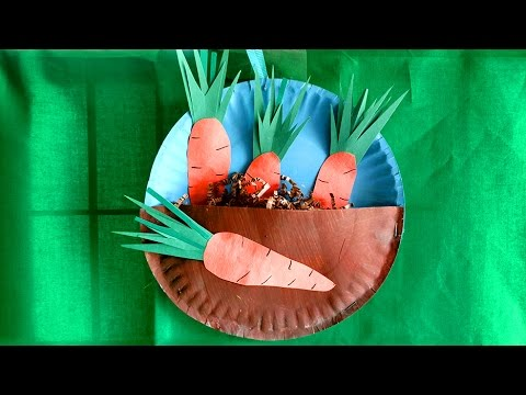 HOW TO MAKE A CARROT GARDEN WITH YOUR KID! Easy 15 minute spring project.