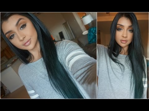 DYING MY HAIR BLUE OMBRE!!