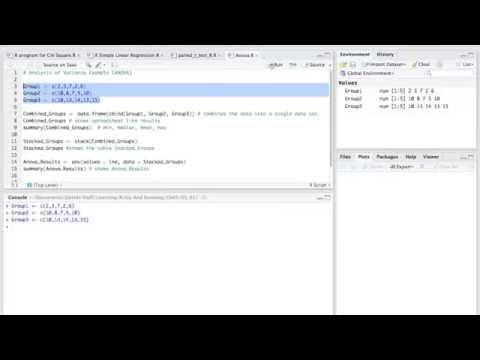 How to Calculate Anova Using R