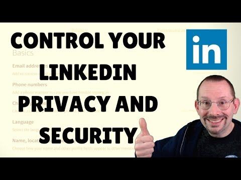 LinkedIn Privacy and Security Settings Tutorial