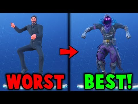 RANKING EVERY BATTLE PASS EMOTE FROM WORST TO BEST! (Fortnite Battle Royale)