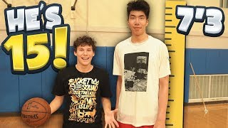 1 V 1 Vs 7 Foot 3 Chinese Basketball Player! He
