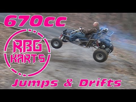 Rippin in the 670cc Off Road Go Kart