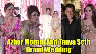 Azhar Morani And Tanya Seth Grand Wedding | Salman Khan, Rekha, Sonakshi, Urvashi