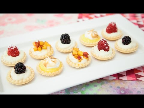 MINI, NO BAKE TARTS (BLACKBERRY & PEACH CHEESECAKE, LEMON, & WHITE CHOCOLATE RASPBERRY MOUSSE)