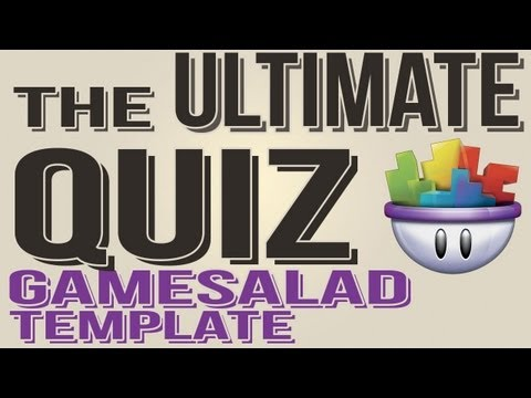 The Ultimate QuizGame Gamesalad Template