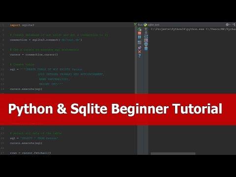 Python Sqlite3 Tutorial Beginners