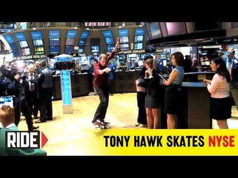 Tony Hawk Skates NYSE Floor