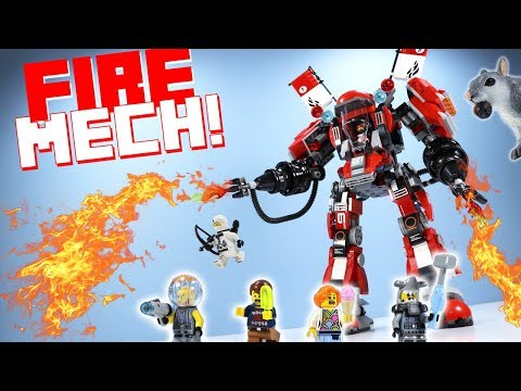 LEGO The Ninjago Movie Fire Mech Kai's Set Speed Build Review 70615