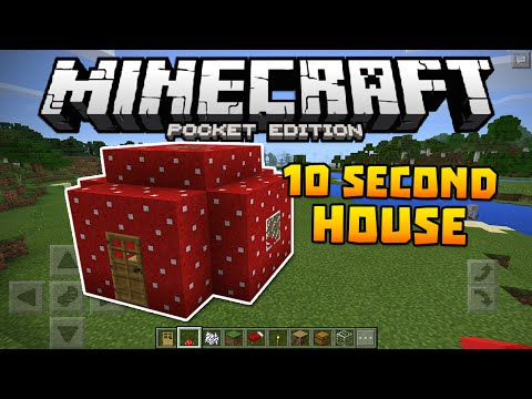 How To Make A House In 10 Seconds! - Minecraft PE Tutorial (Minecraft Pocket Edition)