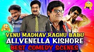 Venu Madhav, Raghu Babu, Ali, Venella Kishore Best Comedy Scenes   South Indian Hindi Dubbed Comedy