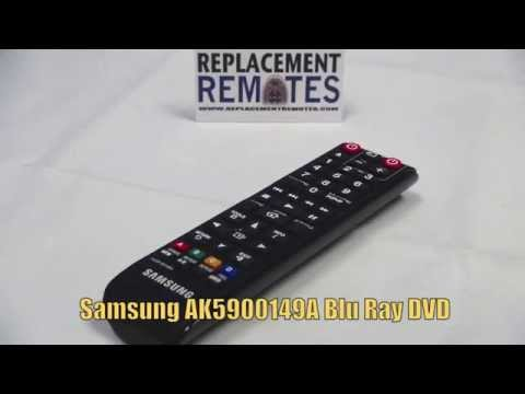 SAMSUNG AK5900149A Blu-Ray DVD Player Remote - www.ReplacementRemotes.com