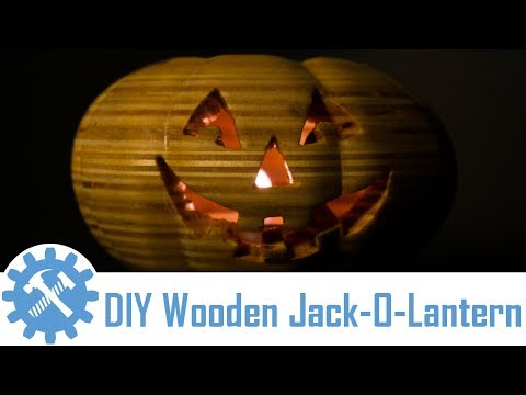 How to Make a Wooden Jack-O- Lantern | Scroll Saw Halloween Project