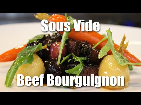 Sous Vide Beef Bourguignon with Glazed Vegetables