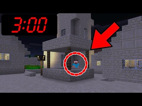 Can you find Herobrine in Minecraft Pocket Edition at 3:00 AM???