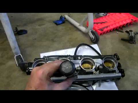 ZX-12R Throttle Body and Injector Removal