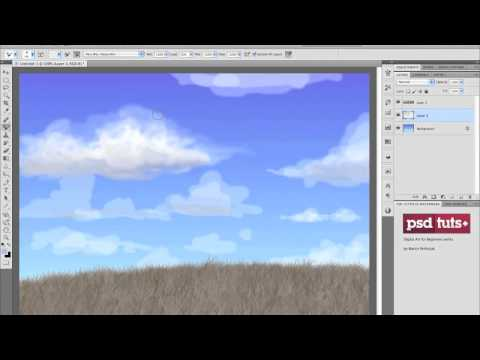 How to Paint Clouds With Photoshop