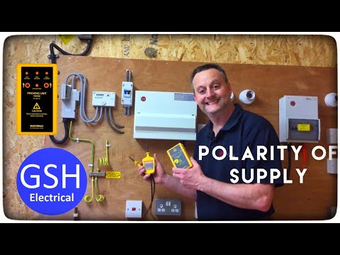 First Live Test Check Polarity of The Supply Using An Approved Voltage Indicator (Mark 2)
